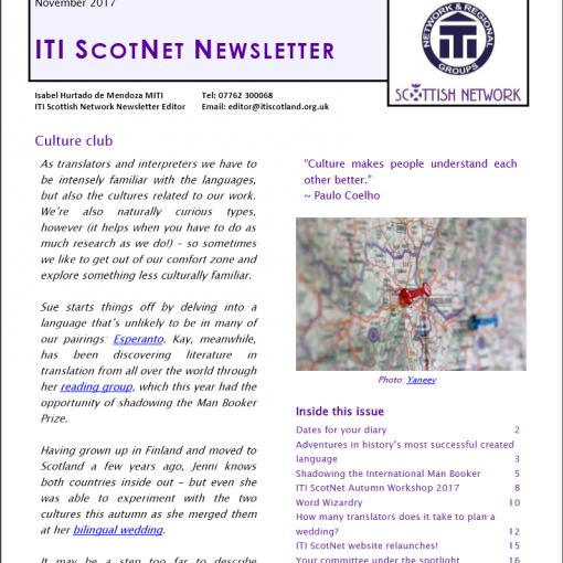 ITI Scottish Network Newsletter March 2018 - ITI ScotNet